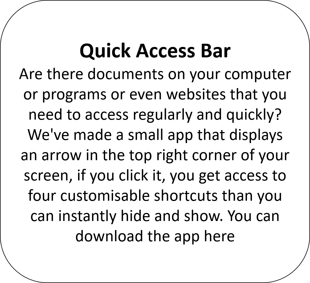 Quick Access Bar